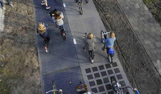 Dünyanın ilk güneş enerjili bisiklet yolu, ürettiği enerjiyle beklentileri aştı