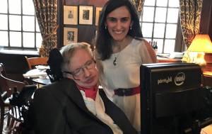 Canan Dağdeviren, Stephen Hawking'i Harvard'da misafir etti