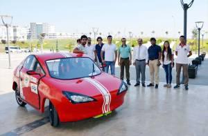 Namık Kemal Üniversitesi'nin elektrikli otomobili 'Kiraz' yarışlara hazır