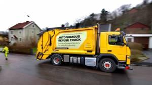 Volvo, sürücüsüz çöp kamyonu testlerine başladı