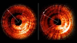 Hubble'ın Yakaladığı Bir Gölge ve Bir Gezegen